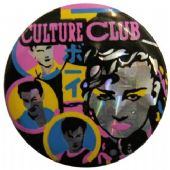 Culture Club - 'Group Faces' Prismatic Button Badge